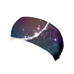Lines Rays Glare Star Light Shadow  Yoga Headband by amphoto