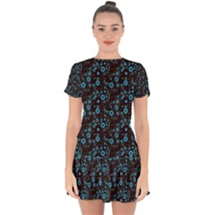 Color Pattern Surface Texture 69666 3840x2400 Drop Hem Mini Chiffon Dress by amphoto