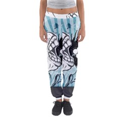 App Storm Apple Mac Devouring Vector Blue White  Women s Jogger Sweatpants by amphoto