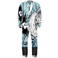 App Storm Apple Mac Devouring Vector Blue White  Onepiece Jumpsuit (men)  by amphoto