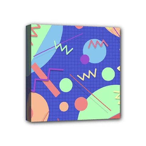 Memphis #42 Mini Canvas 4  X 4  by RockettGraphics