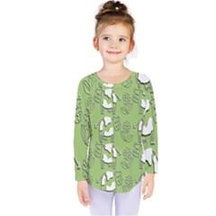 Cow Flower Pattern Wallpaper Kids  Long Sleeve Tee