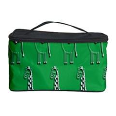 Giraffe Pattern Wallpaper Vector Cosmetic Storage Case by Nexatart