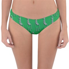 Giraffe Pattern Wallpaper Vector Reversible Hipster Bikini Bottoms