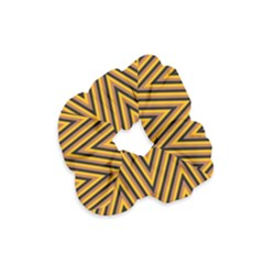 Chevron Brown Retro Vintage Velvet Scrunchie