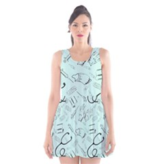 Pattern Medicine Seamless Medical Scoop Neck Skater Dress