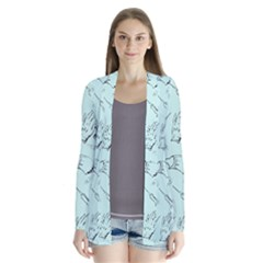 Pattern Medicine Seamless Medical Drape Collar Cardigan