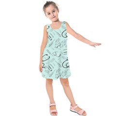 Pattern Medicine Seamless Medical Kids  Sleeveless Dress