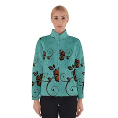 Chocolate Background Floral Pattern Winterwear