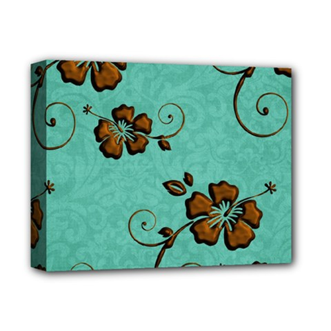Chocolate Background Floral Pattern Deluxe Canvas 14  X 11