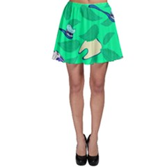 Pattern Seamless Background Desktop Skater Skirt