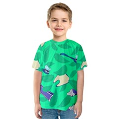 Pattern Seamless Background Desktop Kids  Sport Mesh Tee
