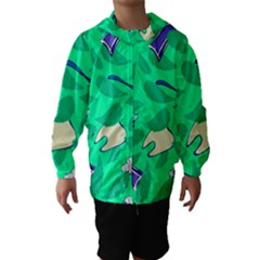 Pattern Seamless Background Desktop Hooded Wind Breaker (kids)