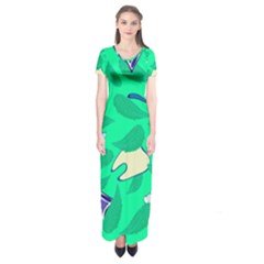 Pattern Seamless Background Desktop Short Sleeve Maxi Dress