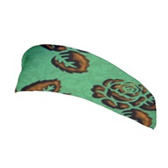 Chocolate Background Floral Pattern Stretchable Headband