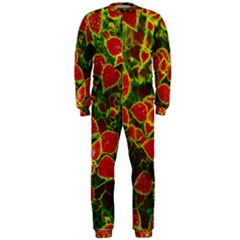 Flower Red Nature Garden Natural Onepiece Jumpsuit (men)