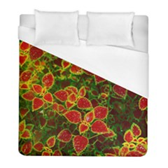 Flower Red Nature Garden Natural Duvet Cover (full/ Double Size) by Nexatart