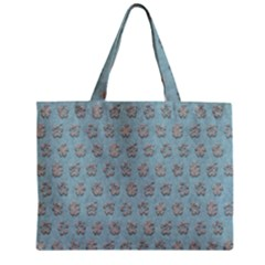 Texture Background Beige Grey Blue Zipper Mini Tote Bag