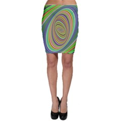 Ellipse Background Elliptical Bodycon Skirt