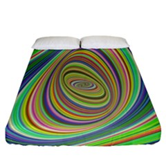 Ellipse Background Elliptical Fitted Sheet (California King Size)