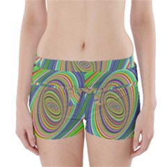 Ellipse Background Elliptical Boyleg Bikini Wrap Bottoms