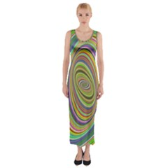 Ellipse Background Elliptical Fitted Maxi Dress