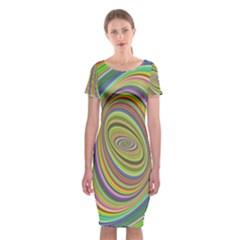 Ellipse Background Elliptical Classic Short Sleeve Midi Dress