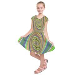 Ellipse Background Elliptical Kids  Short Sleeve Dress
