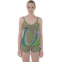 Ellipse Background Elliptical Tie Front Two Piece Tankini