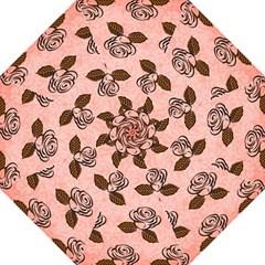 Chocolate Background Floral Pattern Folding Umbrellas
