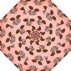 Chocolate Background Floral Pattern Straight Umbrellas