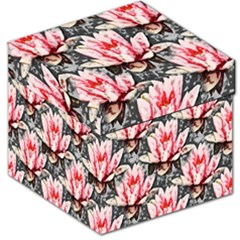 Water Lily Background Pattern Storage Stool 12