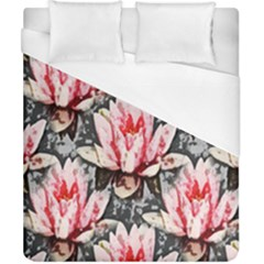 Water Lily Background Pattern Duvet Cover (california King Size) by Nexatart