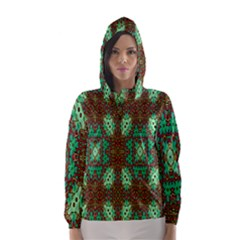 Art Design Template Decoration Hooded Wind Breaker (women)