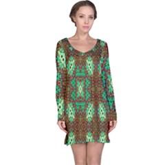 Art Design Template Decoration Long Sleeve Nightdress