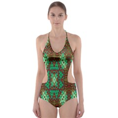 Art Design Template Decoration Cut Out One Piece Swimsuit