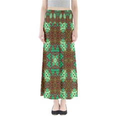 Art Design Template Decoration Full Length Maxi Skirt