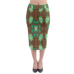 Art Design Template Decoration Midi Pencil Skirt
