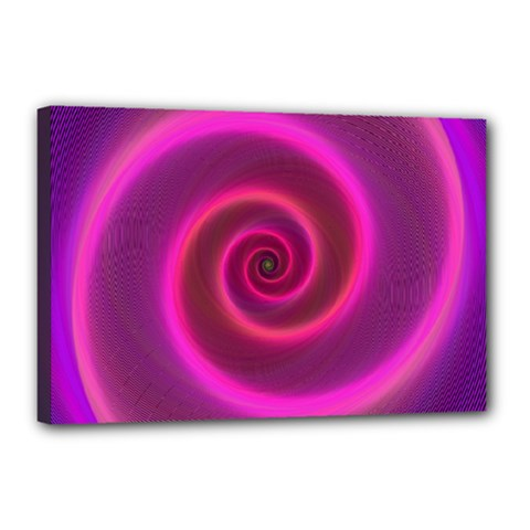 Pink Background Neon Neon Light Canvas 18  X 12  by Nexatart