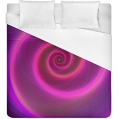 Pink Background Neon Neon Light Duvet Cover (king Size)