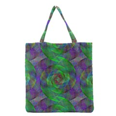 Fractal Spiral Swirl Pattern Grocery Tote Bag