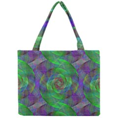 Fractal Spiral Swirl Pattern Mini Tote Bag by Nexatart