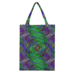 Fractal Spiral Swirl Pattern Classic Tote Bag