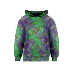 Fractal Spiral Swirl Pattern Kids  Pullover Hoodie