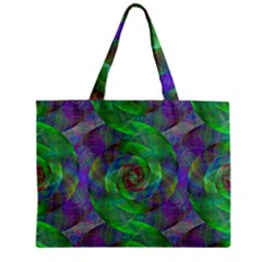 Fractal Spiral Swirl Pattern Zipper Mini Tote Bag by Nexatart