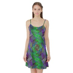 Fractal Spiral Swirl Pattern Satin Night Slip
