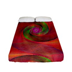 Red Spiral Swirl Pattern Seamless Fitted Sheet (full/ Double Size) by Nexatart