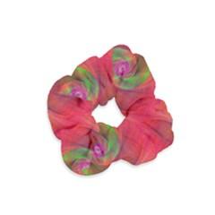Red Spiral Swirl Pattern Seamless Velvet Scrunchie