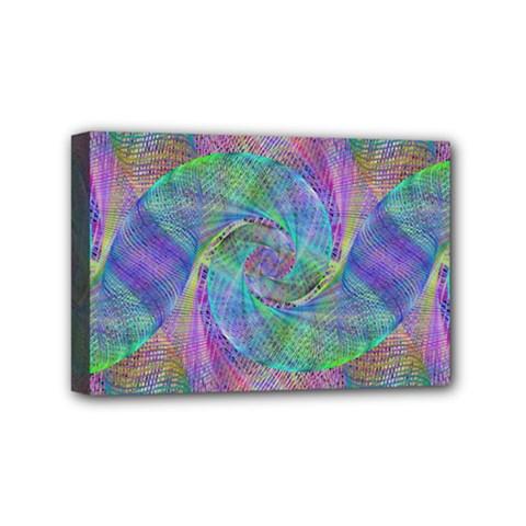 Spiral Pattern Swirl Pattern Mini Canvas 6  X 4
