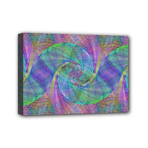 Spiral Pattern Swirl Pattern Mini Canvas 7  X 5